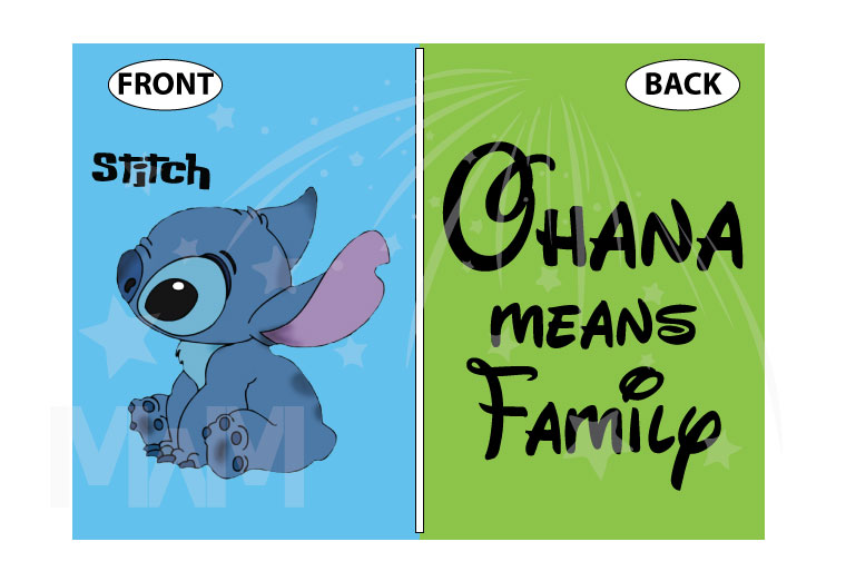 Stitch Ohana Means Family married with mickey