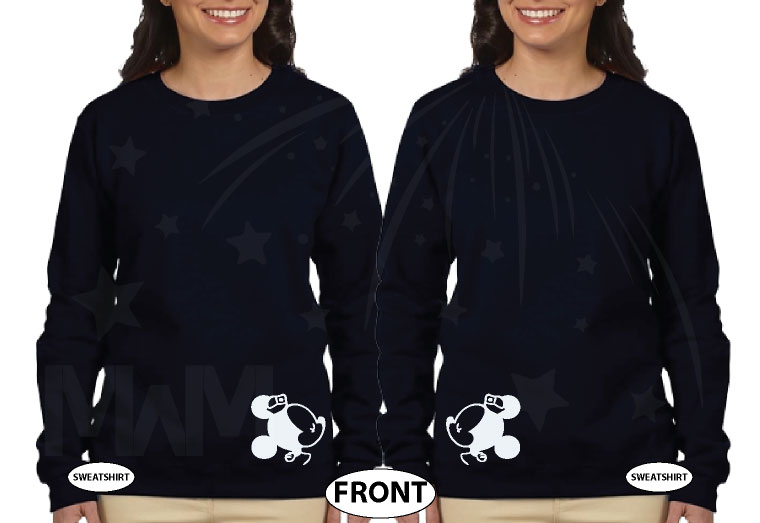 LGBT Lesbian Matching Couple Shirts I'm Her Princess She's My Princess Kissing Minnie Mouse married with mickey black sweaters