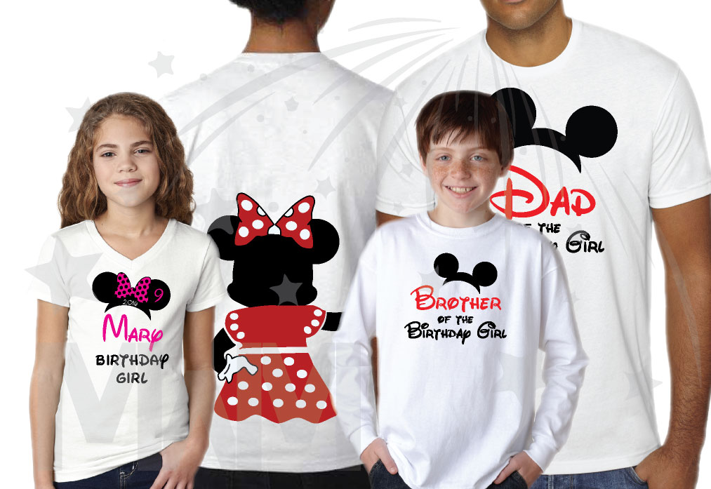 Disney Family Shirts Birthday Girl Boy Shirt Mom Dad Sister Best Friend Of