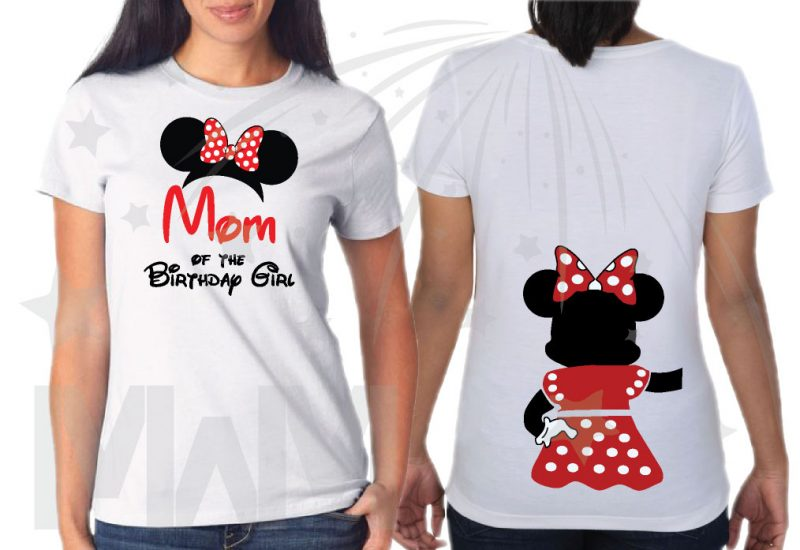Disney Family Shirts Birthday Girl (Boy) Shirt, Mom Dad Sister Best Friend Of Birthday Girl (Boy) married with mickey mwm