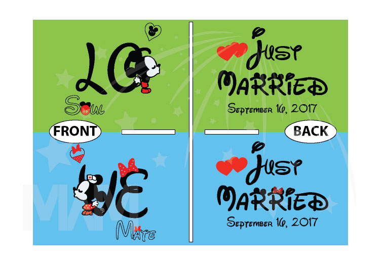Soulmate Love Shirts Mickey Minnie Kiss Just Married Wedding Date married with mickey