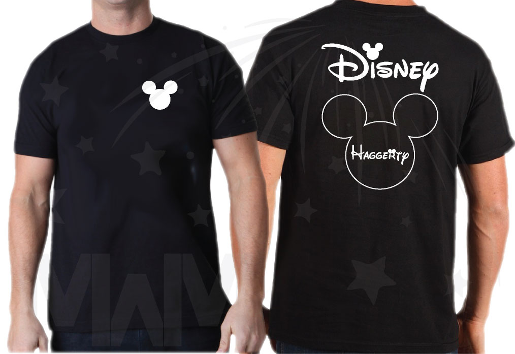 Matching Family Shirts, Mickey Mouse Head Logo, Disney Shirts With Custom  Names married with