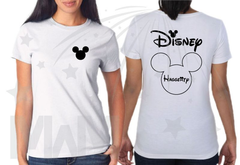Matching Family Shirts, Mickey Mouse Head Logo, Disney Shirts With Custom Names married with mickey white tshirt