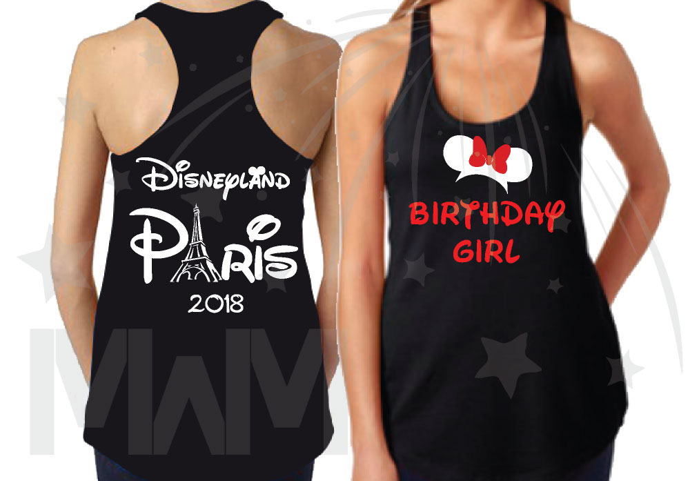 Matching Family Shirts Sister Daughter Birthday Girl Disneyland Paris 2018 Married With