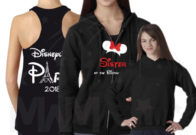 Matching Family Shirts, Sister, Daughter, Birthday Girl, Disneyland Paris 2018 married with mickey mwm