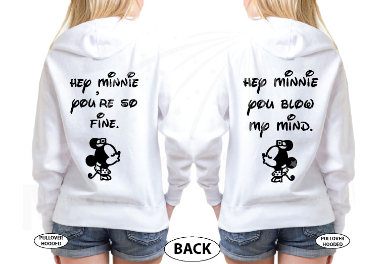 LGBT Lesbian Soul Mate Hey Minnie You're So Fine Minnie You Blow My Mind married with mickey mwm white hoodies