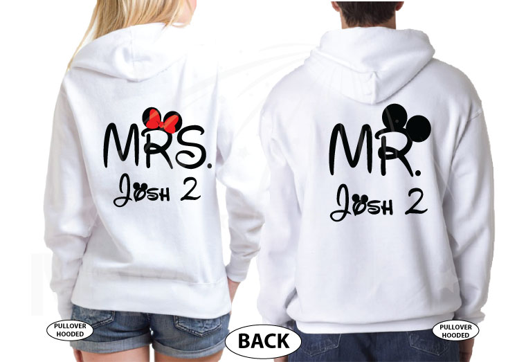 Future Wifey Future Hubby Mr and Mrs Matching Shirts married with mickey mwm white hoodies
