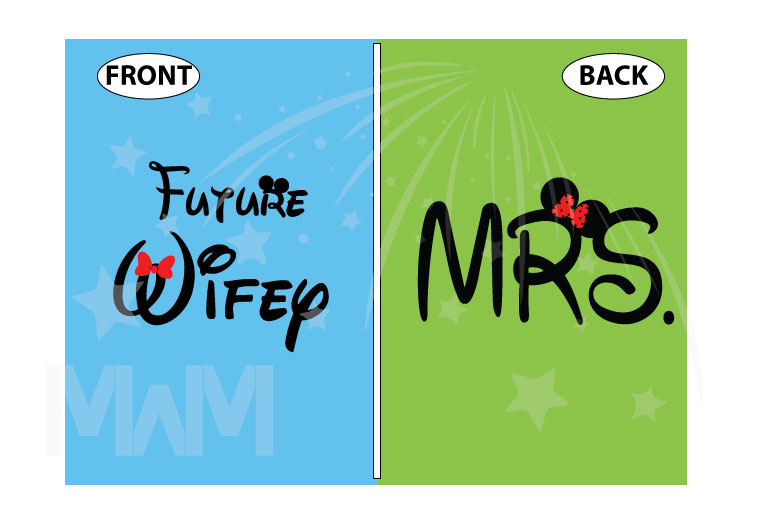 Future Wifey Disney Design, Mrs Ladies Shirt married with mickey
