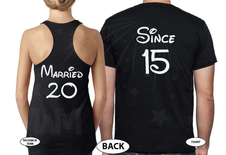 Her Prince, His Princess, Mickey Minnie Mouse Cute Kiss, Married Since 1993, Married With Mickey black tank tops