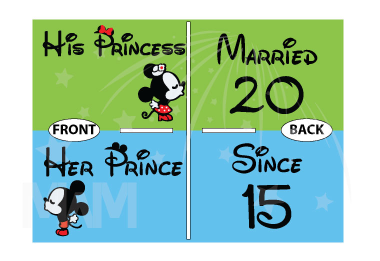 Her Prince, His Princess, Mickey Minnie Mouse Cute Kiss, Married Since 1993, Married With Mickey
