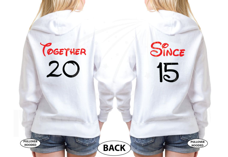 LGBT Lesbian If Lost Return To Elizabeth, Together Since 2016, Married With Mickey, The World's Cutest LGBT Couple Shirts married with mickey white sweaters