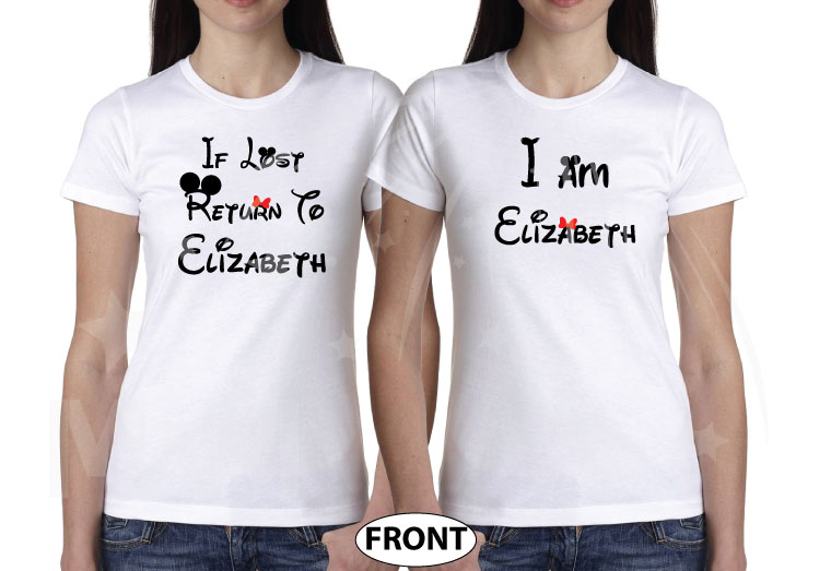 LGBT Lesbian If Lost Return To Elizabeth, Together Since 2016, Married With Mickey, The World's Cutest LGBT Couple Shirts married with mickey white tshirts