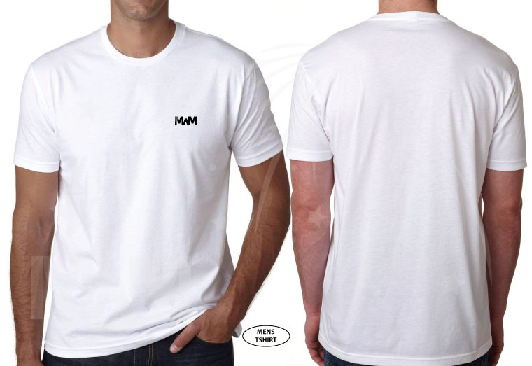 married with mickey white mens cut t-shirt next level 3600