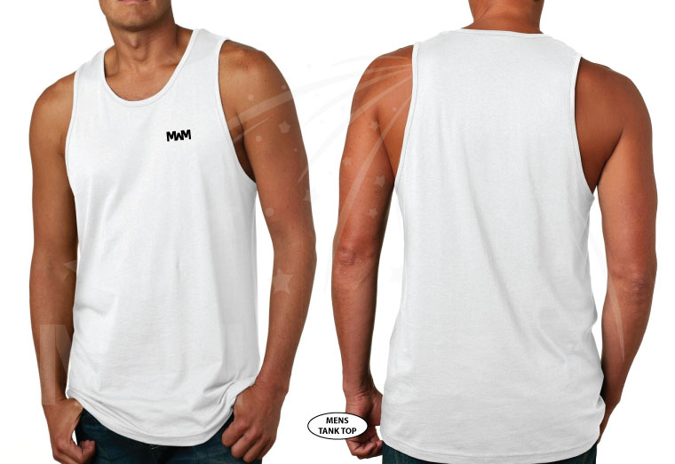 married with mickey mens cut white tank top next level 3633