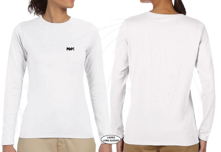 married with mickey white ladies cut long sleeve