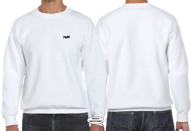 married with mickey white mens cut crewneck sweater sweatshirt g120