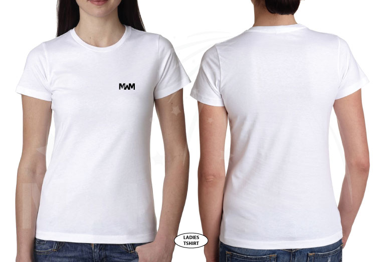 married with mickey white laides cut t-shirt next level n3900