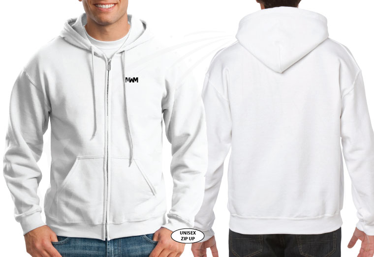 married with mickey white zip up hoodie g186 gildan