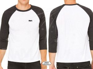 married with mickey white baseball tee mens cut c3200 next level