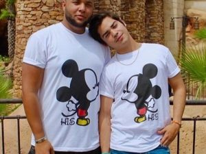 LGBT Gay Mickey Mouse His, Married With Mickey white tshirts