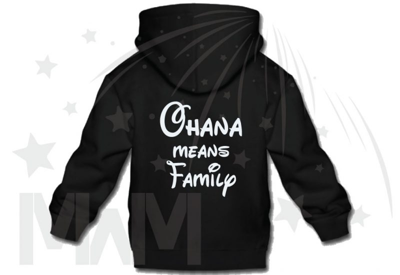 Stitch Ohana Means Family (500424) married with mickey black hoodie