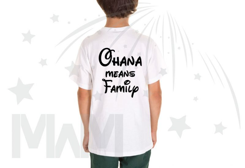 Stitch Ohana Means Family (500424) married with mickey white tshirt