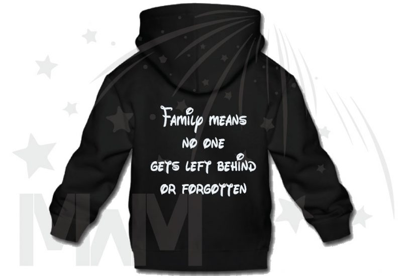 500426 Lilo Family means no one gets left behind or forgotten (500426) married with mickey black hoodie