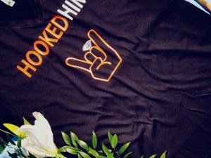 Hooked Him Ladies T-Shirt, Racerback Tank Top, V Neck T-Shirt and other styles (please leave a note with your ring color (silver or gold), married with mickey, black v neck t shirt