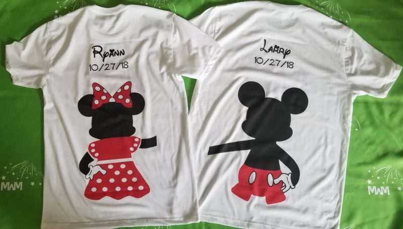 cutest matching couple shirts, married with mickey