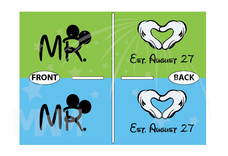 LGBT Gay Matching Shirts For Mr Mickey Mouse Hands In Heart Shape Wedding Date married with mickey