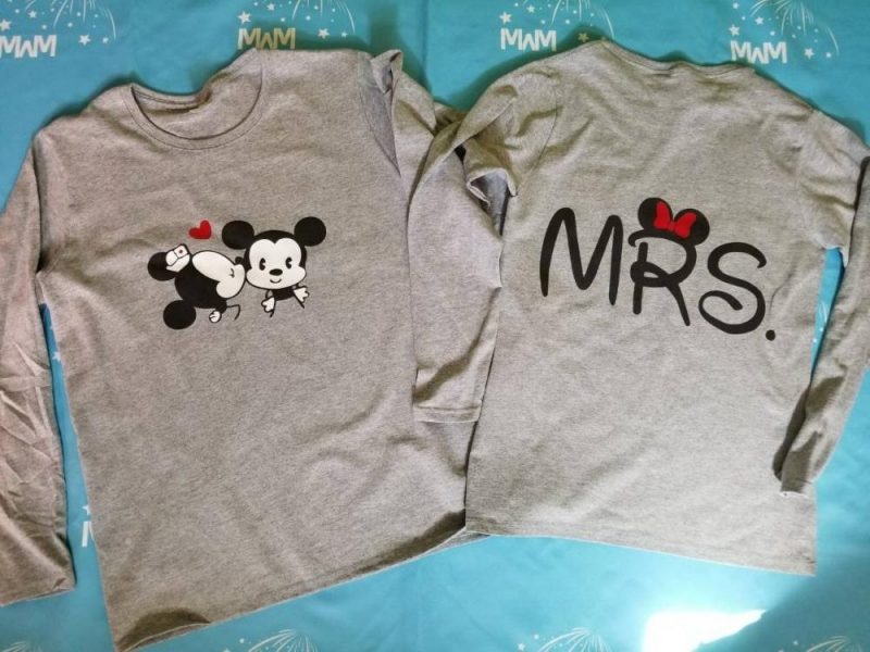 LGBT Lesbian Cute Little Mickey Minnie Mouse Kiss For Mrs, married with mickey
