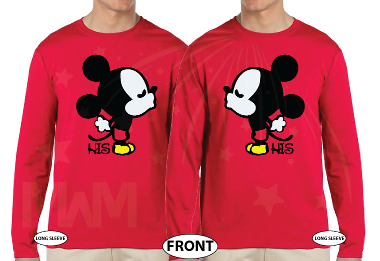 LGBT Gay Mickey Mouse His, Married With Mickey red long sleeves