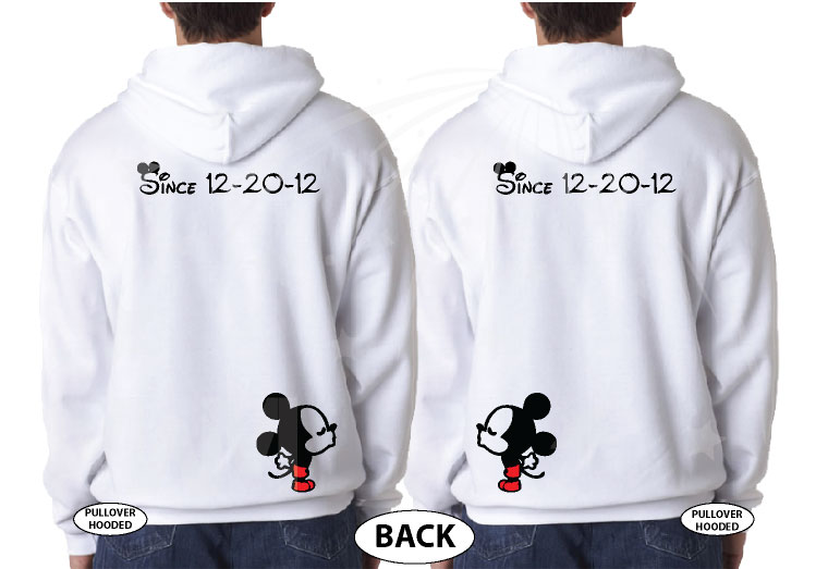 LGBT Gay Cute Shirts Soul Mate With Custom Date Kissing Mickeys married with mickey white hoodies