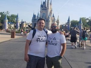 LGBT Gay I'm His Prince He's My Prince Mickey Mustache With Custom Names Matching Shirts, married with mickey