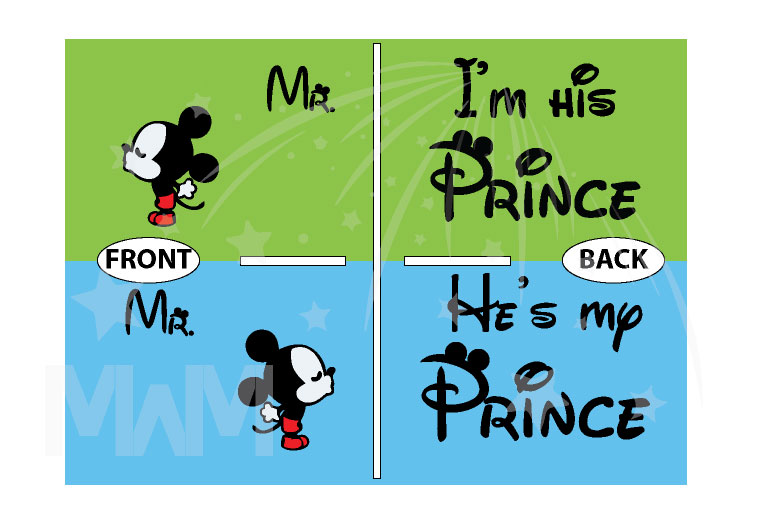 LGBT Gay Matching Mr Mickey Mouse Shirts I'm His Prince He's My Prince, married with mickey