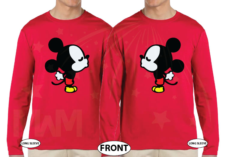 LGBT Gay Kissing Mickey Mouse, I'm His Goofy, I'm His Mickey married with mickey red long sleeves