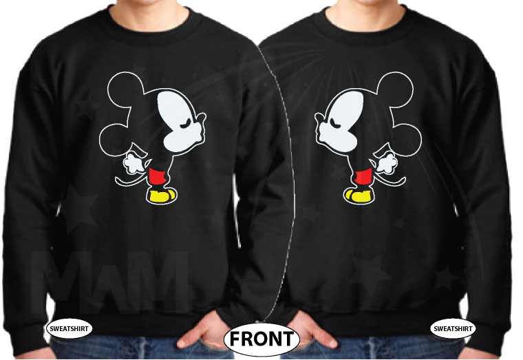 LGBT Gay Kissing Mickey Mouse, I'm His Goofy, I'm His Mickey married with mickey black sweaters