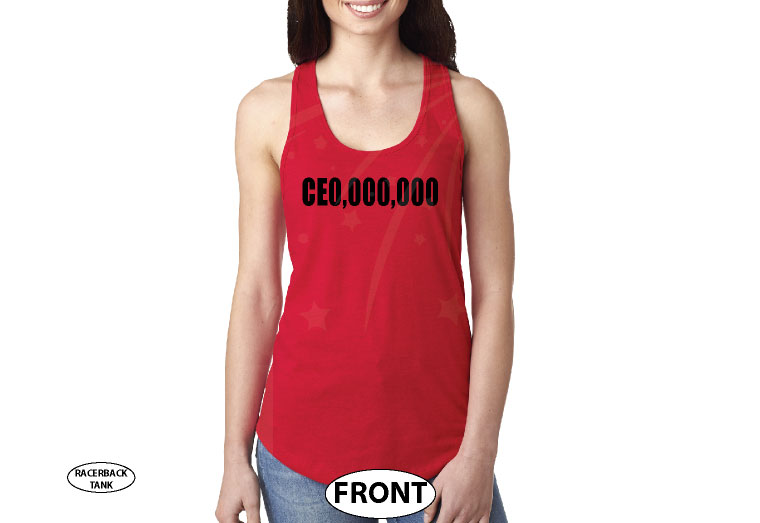 400004 CEO Millions Dollars Entrepreneur Logo married with mickey red tank top