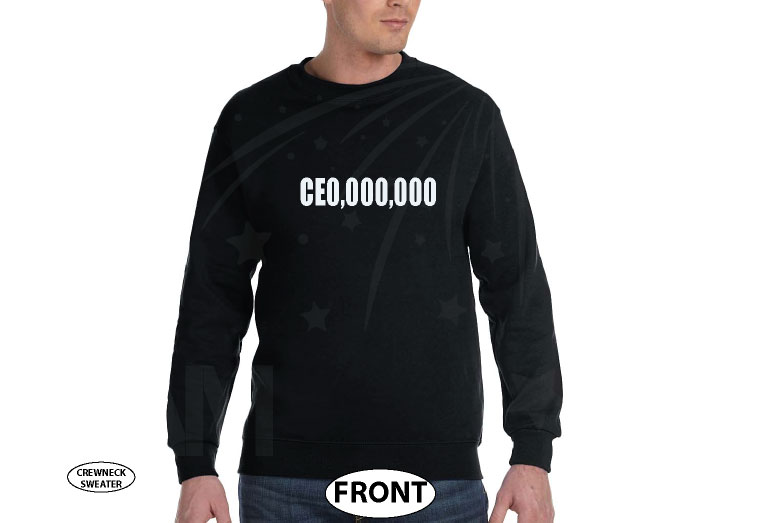 400004 CEO Millions Dollars Entrepreneur Logo married with mickey black sweater