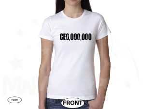 400004 CEO Millions Dollars Entrepreneur Logo married with mickey white tshirt