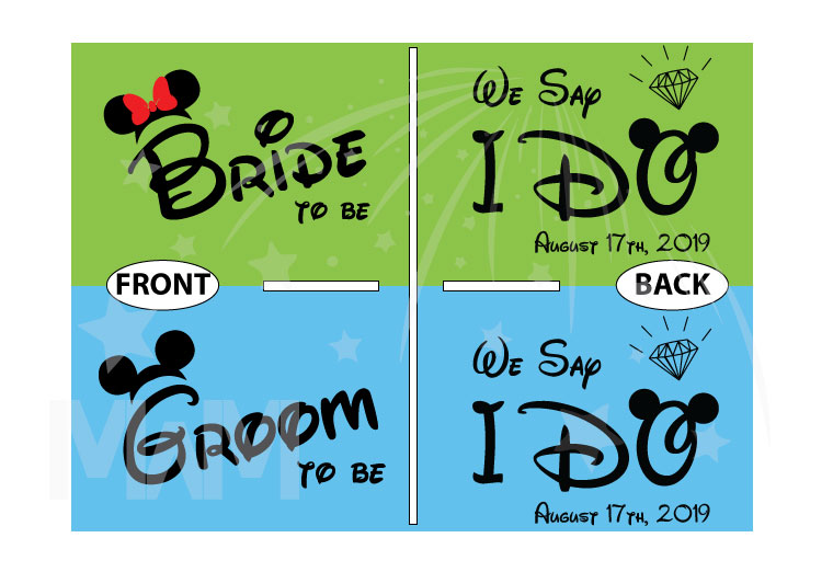 Bride to be, Groom to be, We Say I Do With Wedding Date, Worl'd Cutest Matching Couple Shirts married with mickey