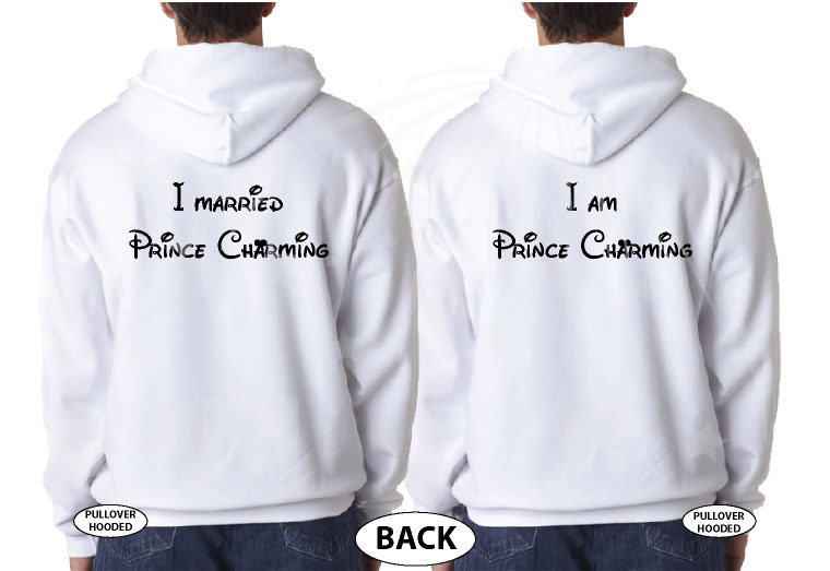 LGBT Gay Soul Mate Love Matching Shirts, I Married Prince Charming, I am Prince Charming married with mickey white hoodies