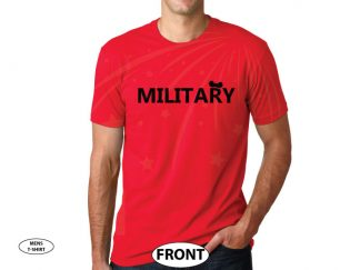 500442 Military Design With Mickey Mouse Ears married with mickey red tshirt