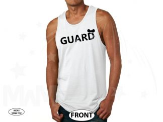 Guard Design With Mickey Mouse Ears married with mickey white tank top