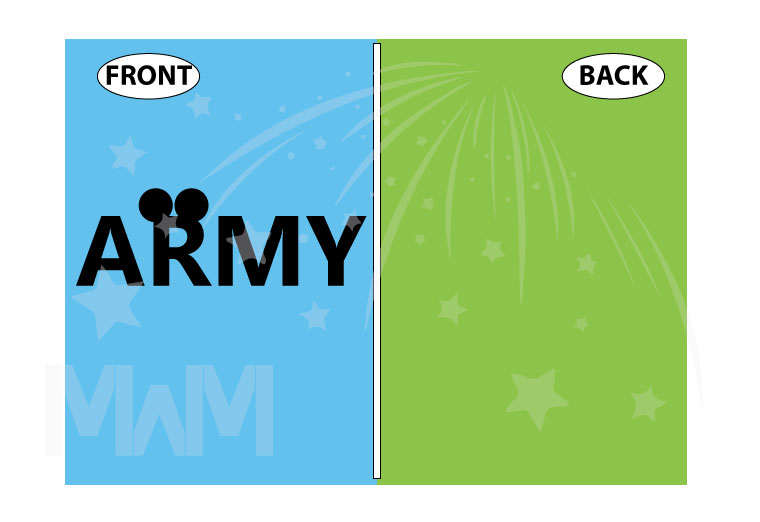 Army Design With Mickey Mouse Ears married with mickey