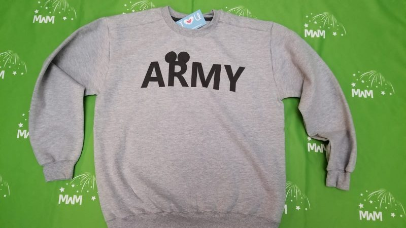 Army Design With Mickey Mouse Ears, married with mickey brand
