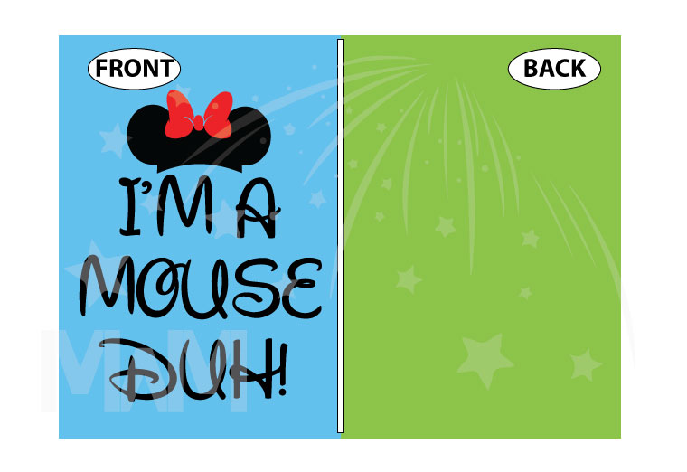 I'm a Mouse, Duh, Minnie Mouse Head and Bow married with mickey