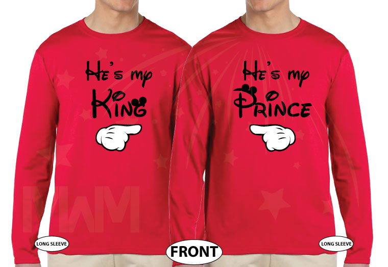KingHe's myHe's myPrince married with mickey red long sleeves