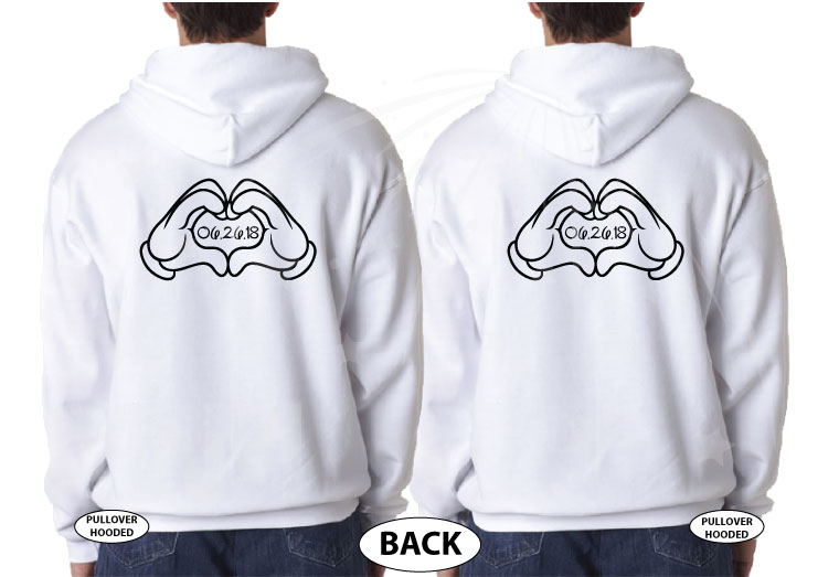 KingHe's myHe's myPrince married with mickey white hoodies