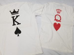 King and Queen, Cute Matching Shirts Married With Mickey